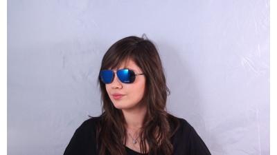 Lunettes de soleil Police S 8651 568B Bleu Verres miroirs