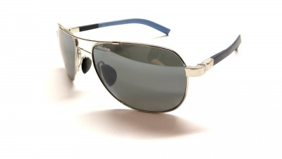 Maui Jim Guardrails 327 17 Silver and blue dark Lenses grey polarized