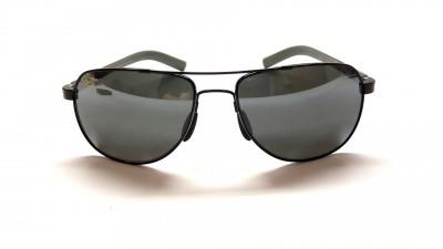 Lunettes de soleil Maui Jim Guardrails 327 02 Noir et gris Verres polarisés, miroirs et antireflets
