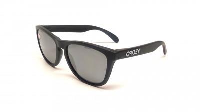 Oakley Frogskins Noir Mat Iridium OO9013 24-297 55-17 Large Polarisés Miroirs