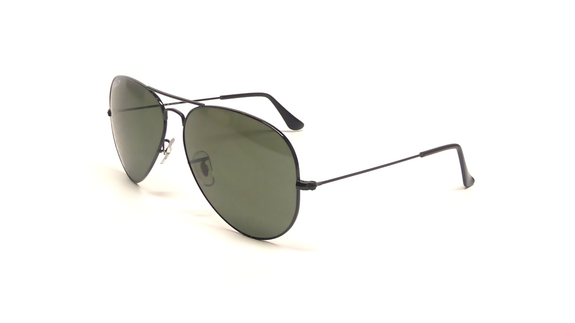 ray ban aviator metal black rb3025 002 58 62 14 polarized visiofactory