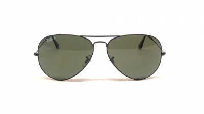 Ray-Ban P Aviator Large Metal Noir RB3025 002/58 62-14 Polarisés