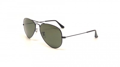 Ray-Ban P Aviator Large Metal Noir RB3025 002/58 55-14 Small Polarisés