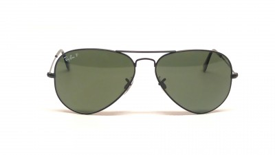 Ray-Ban P Aviator Large Metal Black RB3025 002/58 58-14 Polarisés