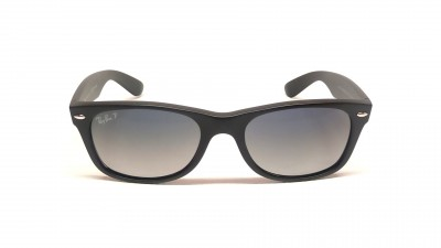 Ray-Ban New Wayfarer Black RB2132 601S/78 52-18 Polarized