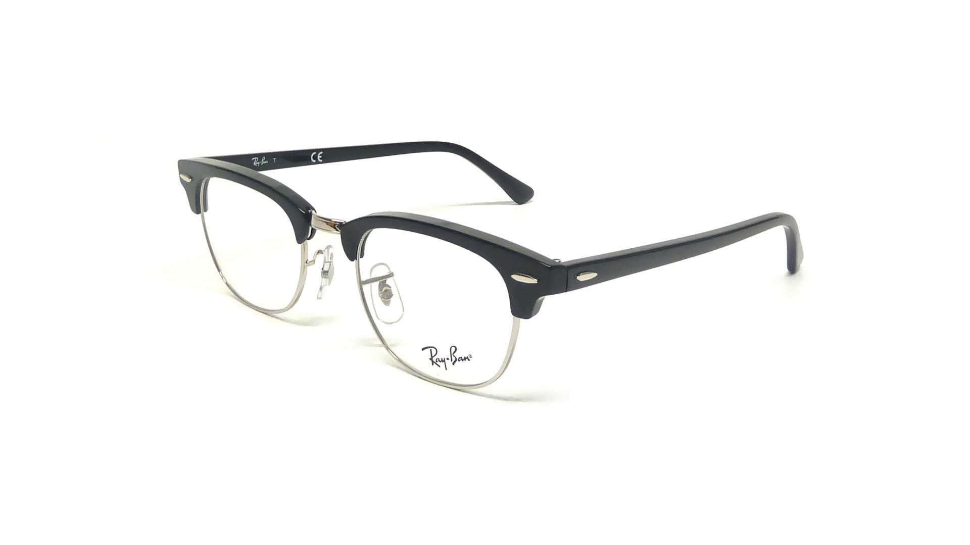lunettes de vue ray ban clubmaster black rx5154 rb5154 2000 49 21 visiofactory