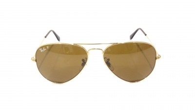 Ray-Ban P Aviator Large Metal Or RB3025 001/57 58-14 Polarisés