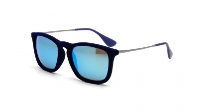 RB 4187 6081/55 : Ray-Ban Chris Velvet edition Velours bleu Mirrored Gläser 79,33 €
