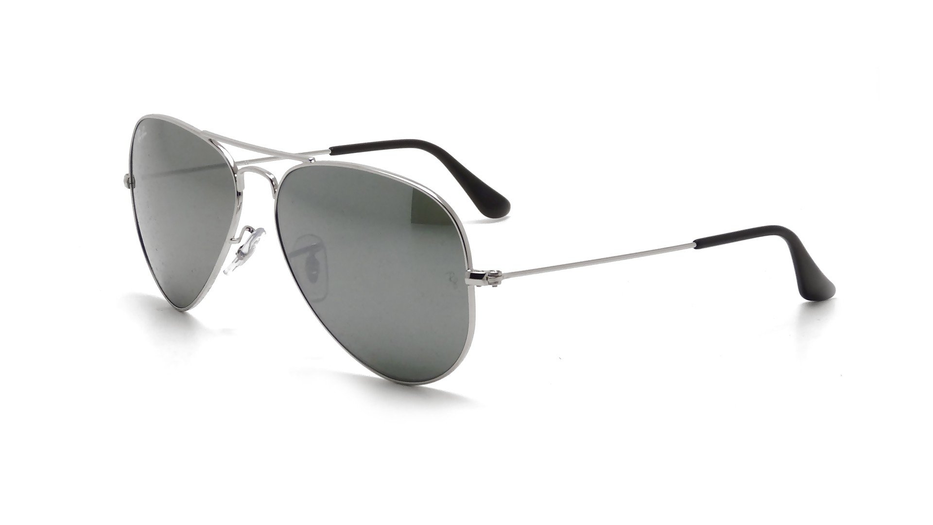 ray ban aviator sunglasses rb3025 w3277 silver mirror