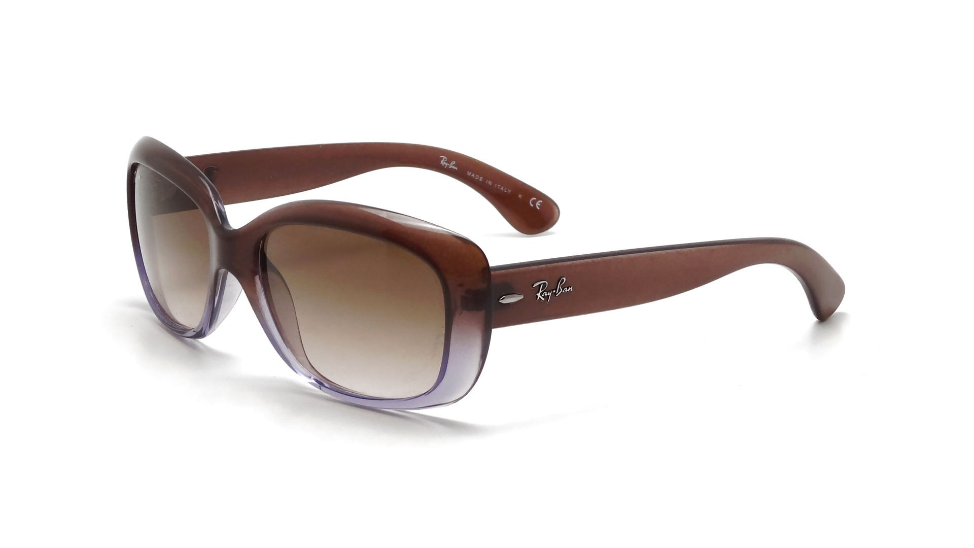 neueste art schön und charmant Fang Ray-Ban Jackie Ohh Brown RB4101 860/51 58-13 Large Gradient