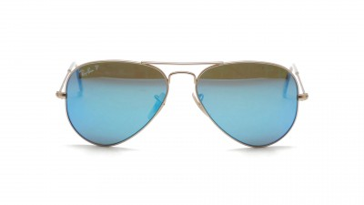 Ray-Ban P Aviator Large Metal Or Mat RB3025 112/4L 58-14 Polarisés