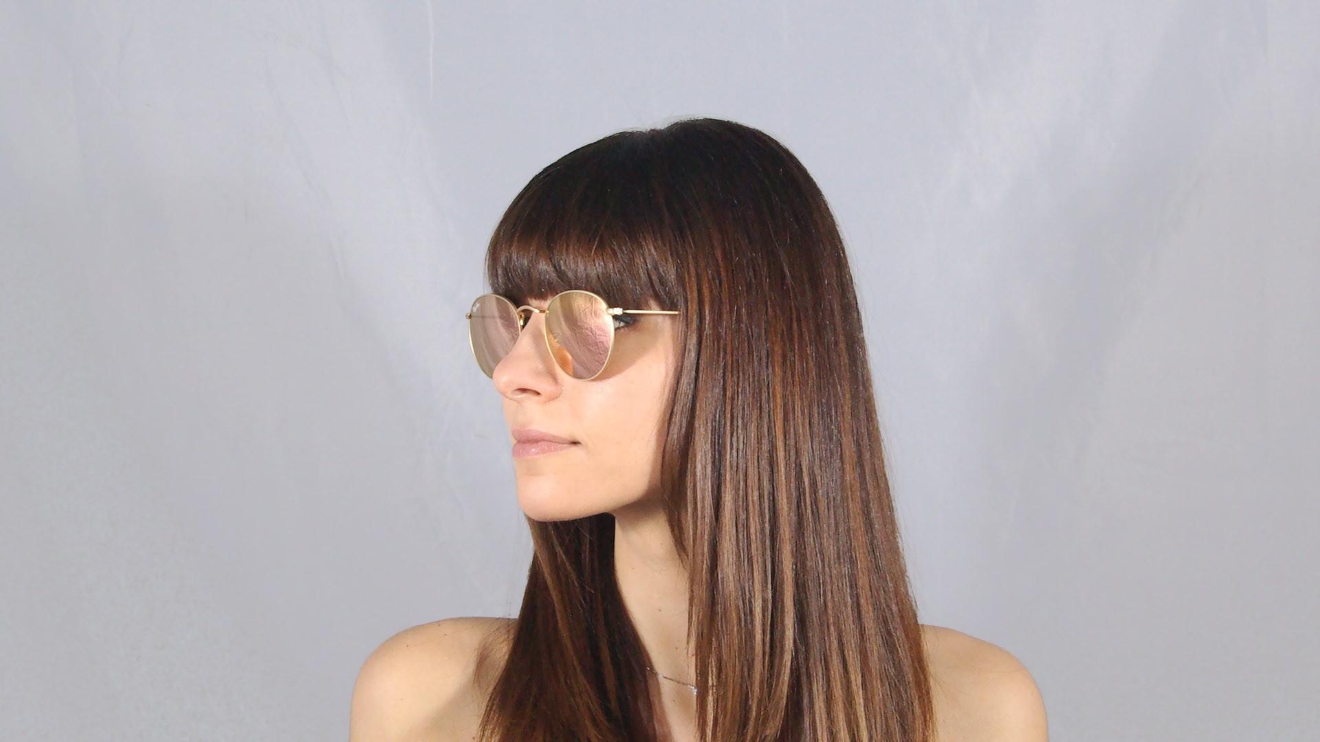 02e1f132d2 ... get sunglasses ray ban round metal gold flash lenses rb3447 112 z2 50  21 medium mirror