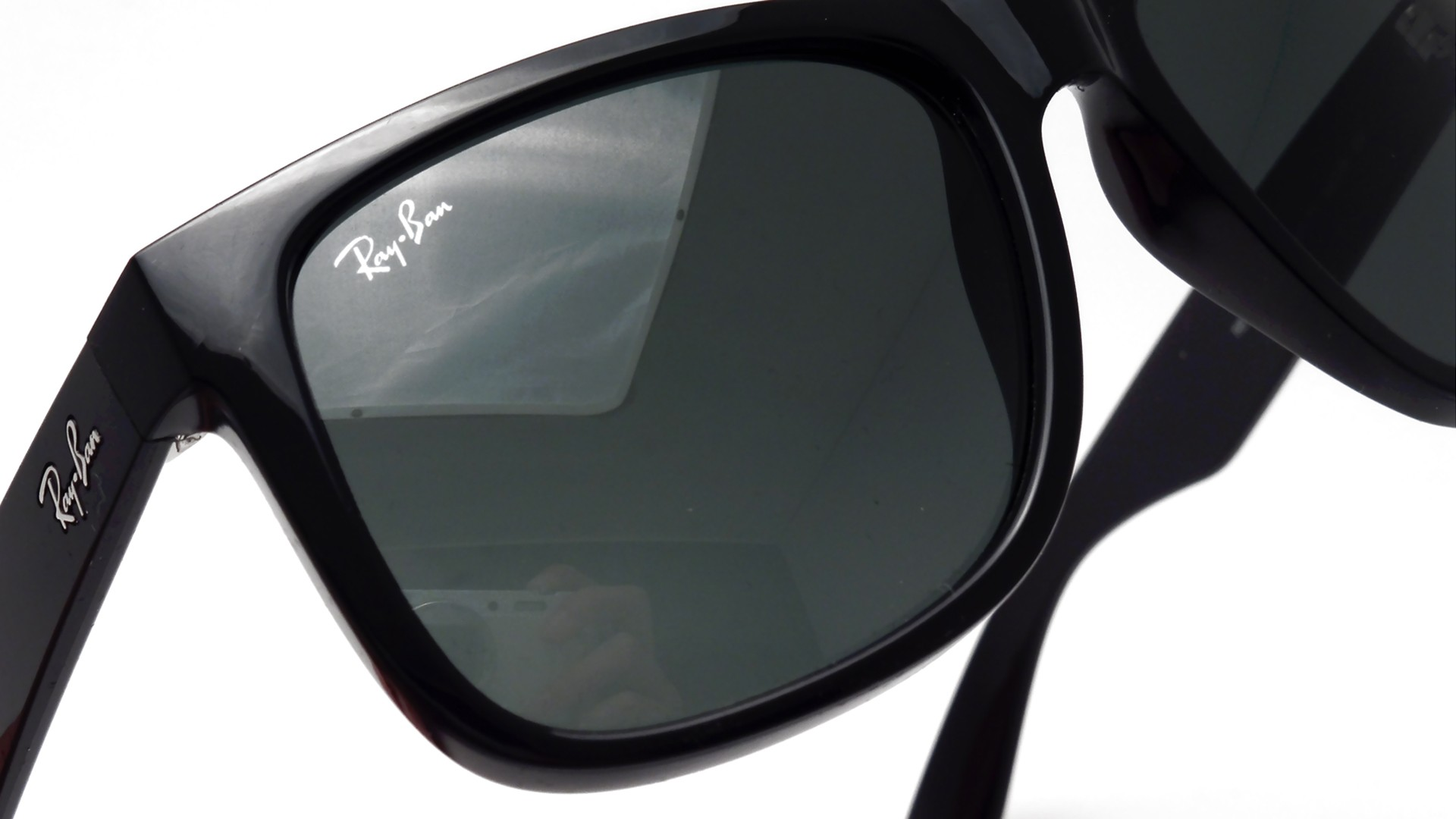 Ray Ban Justin Noir RB4165 60171 55 16 Large