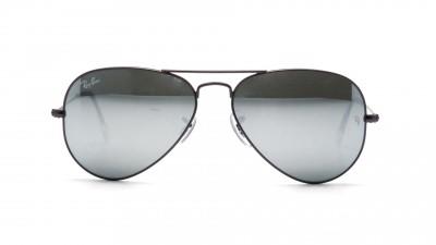 ray ban aviator gris miroir