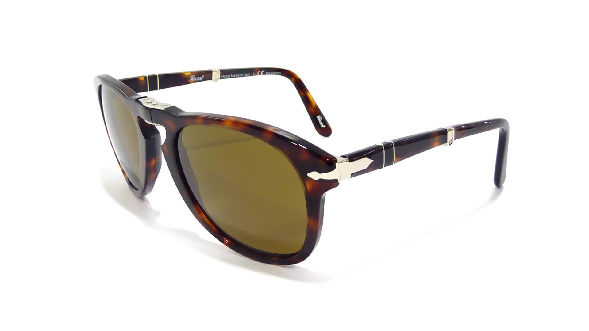 e32af9caf67e Sunglasses Persol PO0714 24/57 52-21 Small Tortoise Folding Polarized