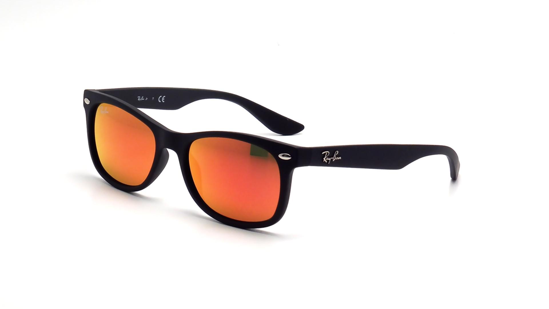 ray ban noir et orange
