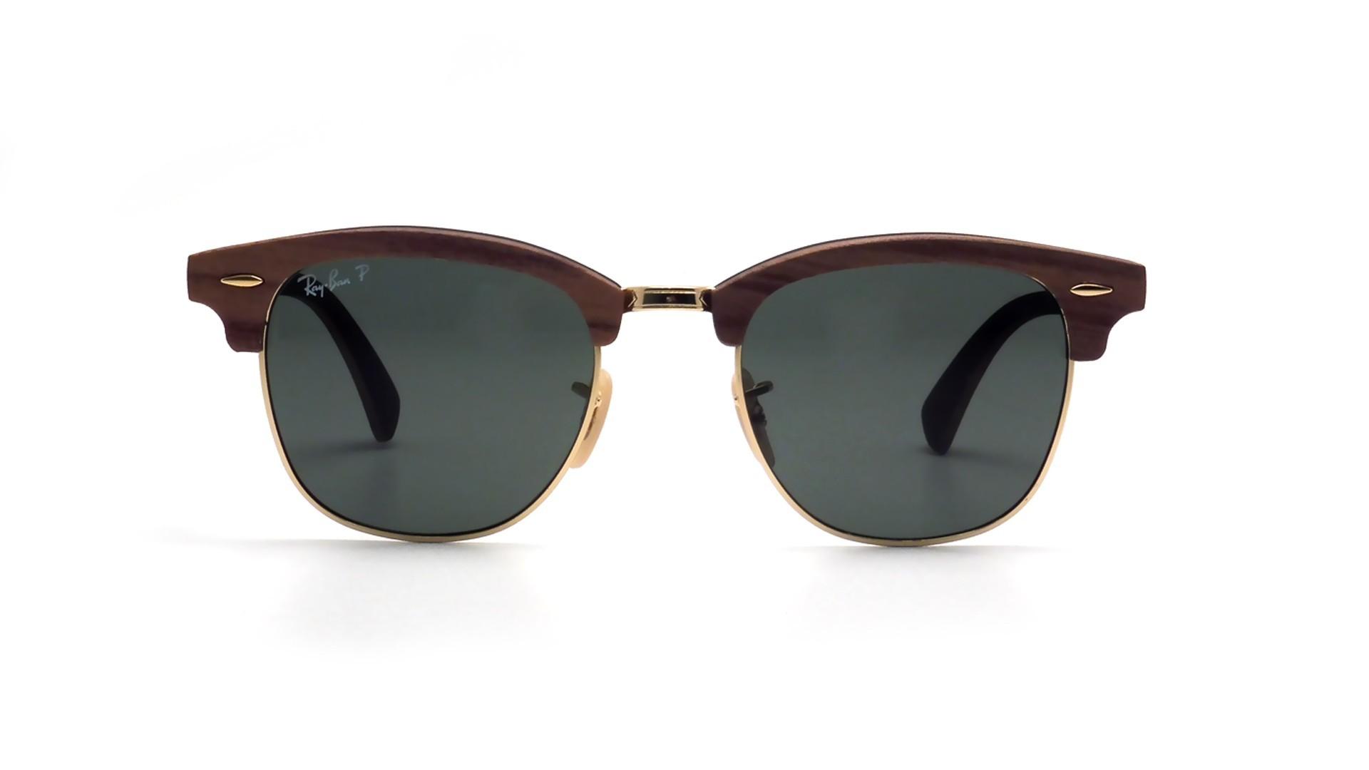 eb331240e89076 ... germany sunglasses ray ban clubmaster wood brown rb3016m 118158 51 21  medium polarized 4b1d2 36714 ...