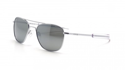 Lunettes Randolph Aviator Bright Chrome Gris AF155 55-20 145,90 €