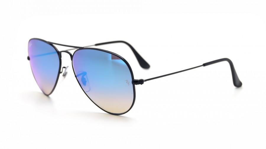 lunette ray ban aviator bleu miroir