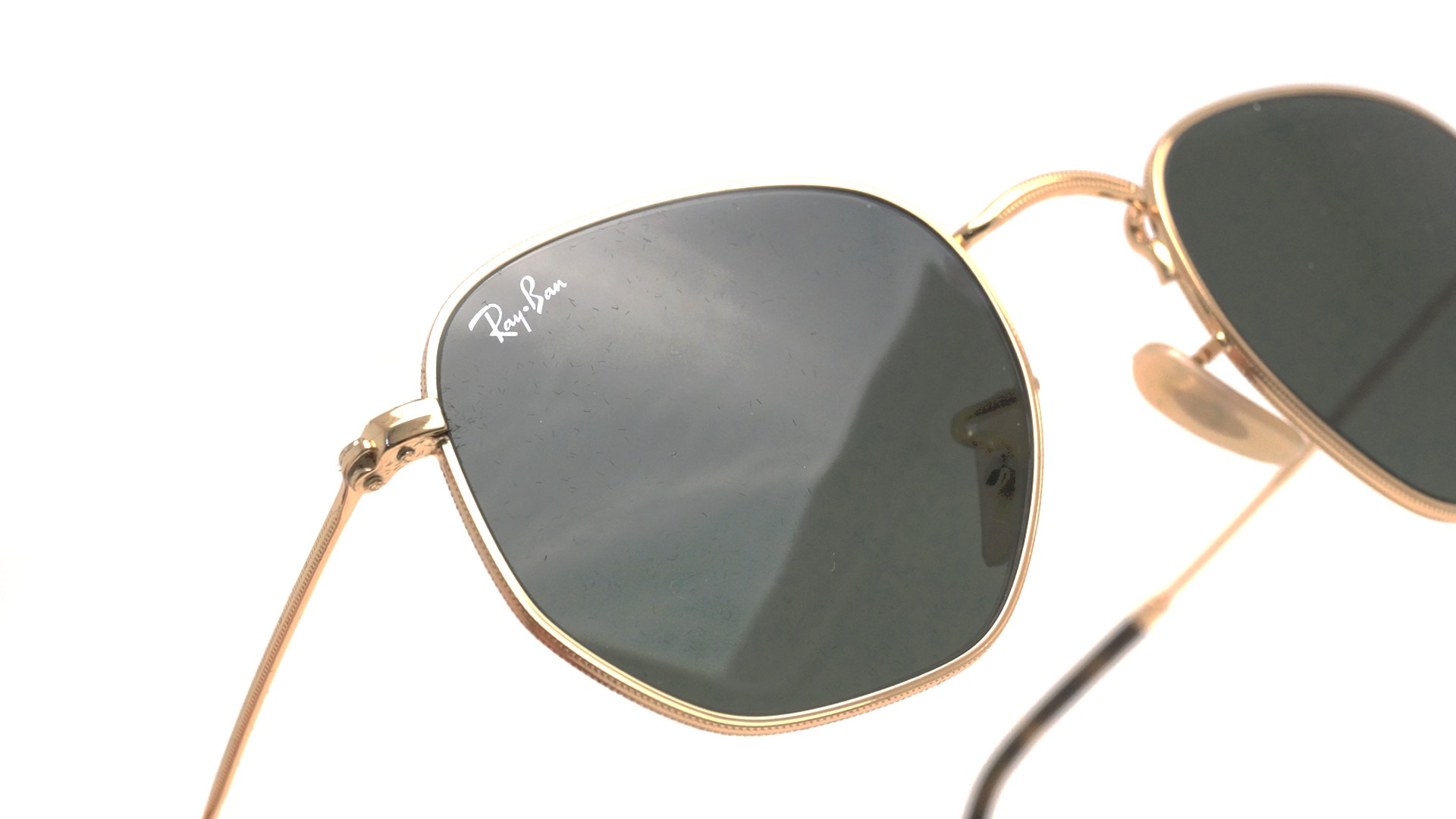 3318b23309 ... cheap ray ban hexagonal flat lenses rb3548n 001 48 21 gold visiofactory  c65ee 731fa