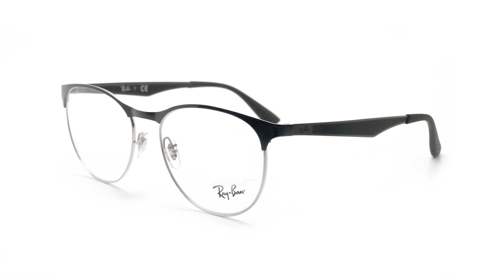 Lunettes de vue Ray-Ban Clubmaster Silver/black RX6365 RB6365 2861 ...