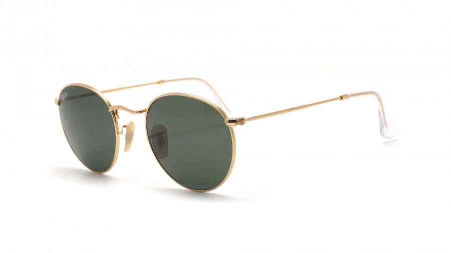 site réputé 50f8f e4a73 Ray-Ban Round Metal Or RB3447 001 47-21 Small