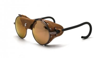 Julbo Vermont Classic Laiton Brun J010 11 50 Coque cuir brun Verres Bruns 51-23 Medium Miroirs