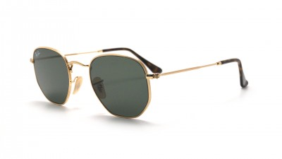 Ray-Ban Hexagonal Flat Lenses Gold RB3548N 001 51-21 Mittel