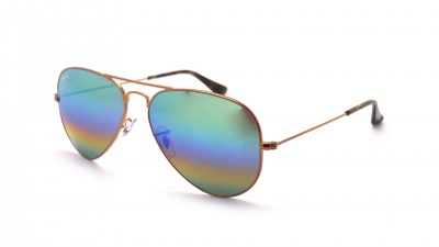 Ray-Ban Aviator Metal Rainbow Gold Mat RB3025 9018/C3 58-14 Gradient