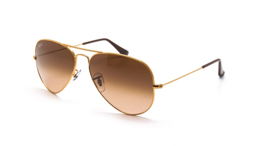 Ray Ban Aviator Gradient Gold RB3025 9001A5 58 14 Large
