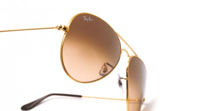 Ray-Ban Aviator Gradient Large metal Gold RB3025 9001/A5 58-14