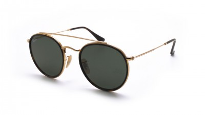 Ray-Ban Round Double Bridge Gold RB3647N 001 51-22 G-15 Mittel