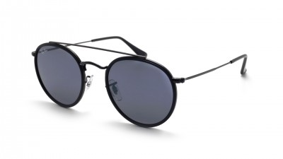 Ray-Ban Round Double Bridge Black RB3647N 002/R5 51-22 Medium