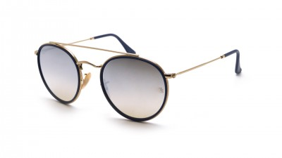 Ray-Ban Round Double Bridge Gold RB3647N 001/9U 51-22 Medium Gradient Mirror