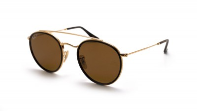 Ray-Ban Round Double Bridge Gold RB3647N 001/57 51-22 Medium Polarized