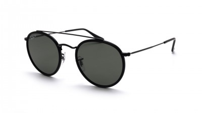 Ray-Ban P Round Double Bridge Noir RB3647N 002/58 51-22 Polarisés 108,25 €