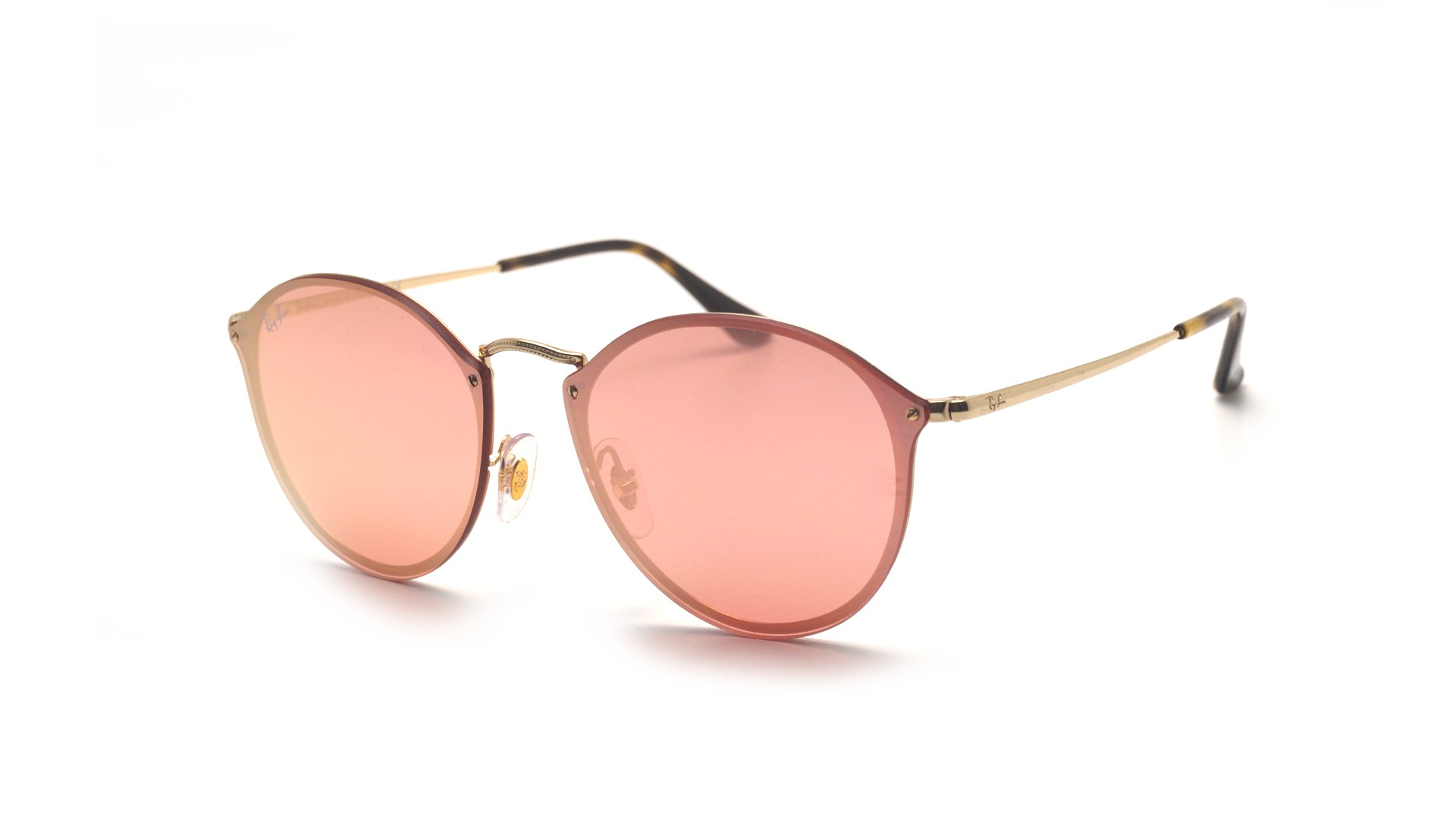 5d1c3aacc60da ... best price sunglasses ray ban round blaze gold rb3574n 001 e4 59 14  large mirror a403c ...