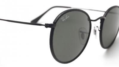ray ban all black round sunglasses