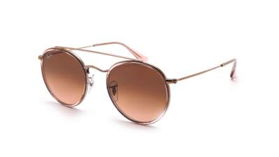 Ray-Ban Round Double Bridge Pink RB3647N 9069/A5 51-22 Medium Gradient