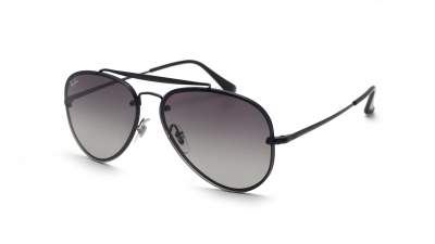 Ray-Ban Blaze Aviator Noir Mat RB3584N 153/11 58-13 Medium Dégradés