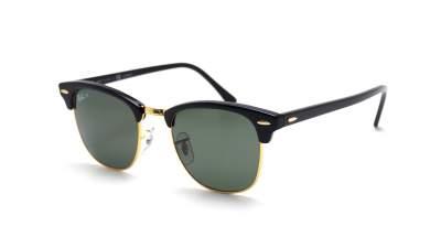 Ray-Ban Clubmaster Schwarz RB3016 901/58 51-21 Mittel Polarisierte Gläser