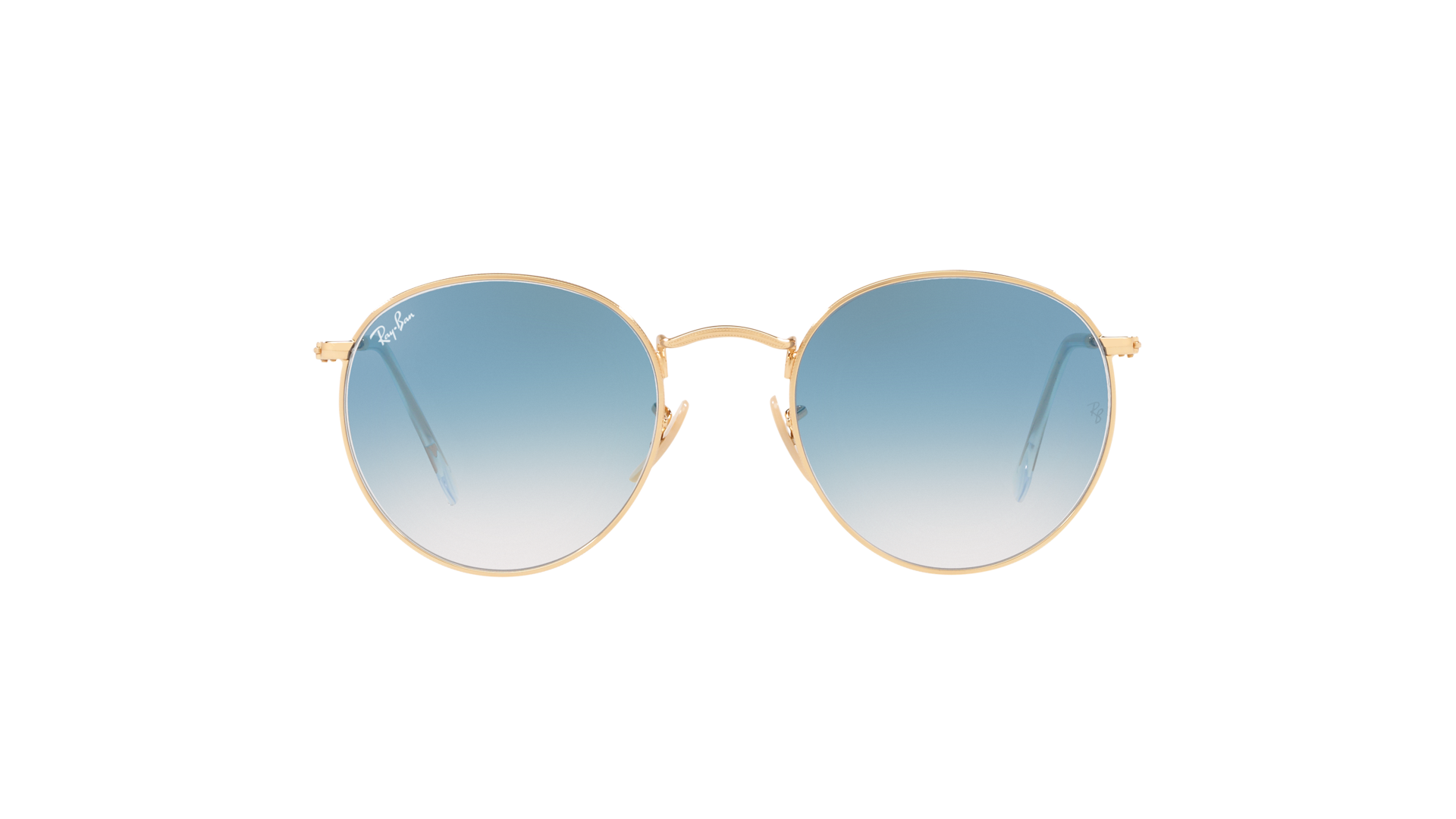 Ray Ban Round metal Flat Lenses Gold RB3447N 0013F 53 21  tG5Dc