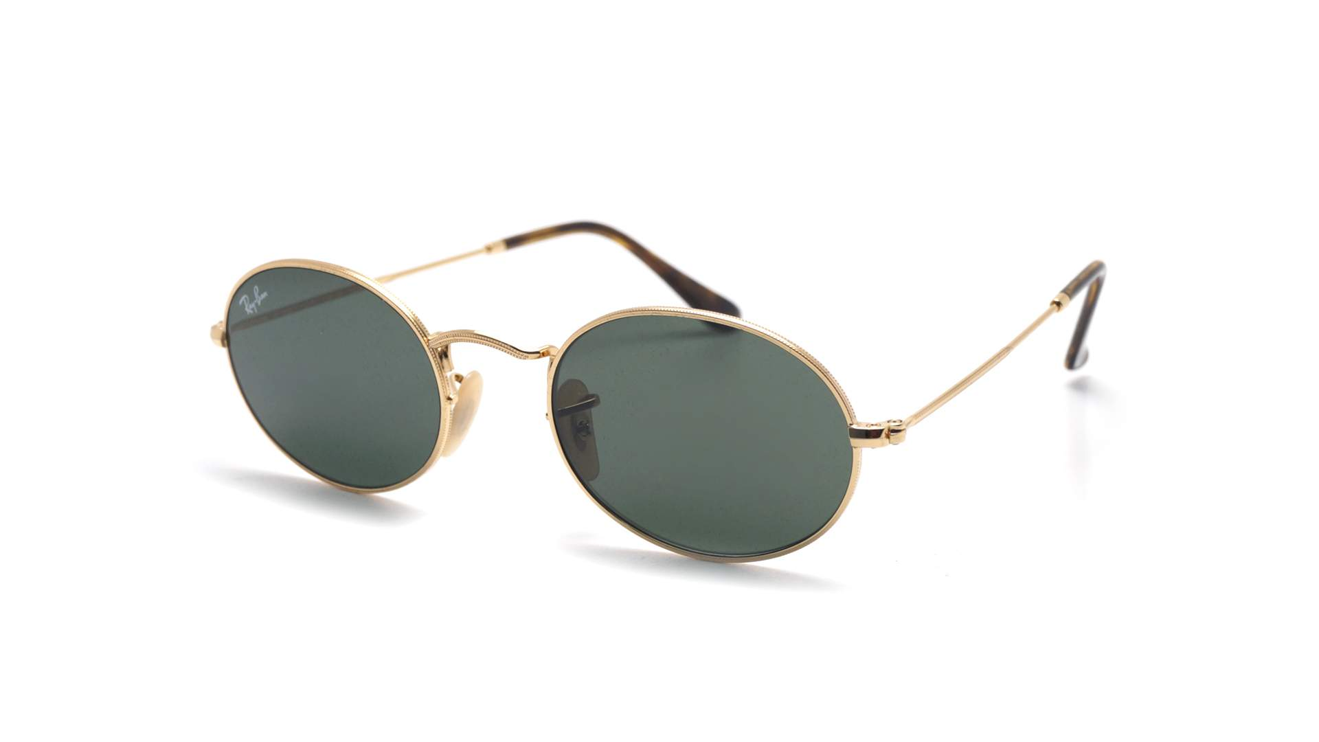 Ray Ban Oval Flat Lenses Gold G 15 RB3547N 001 51 21 Medium