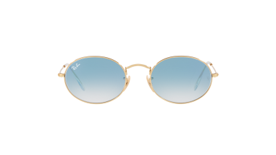 Ray-Ban Oval Flat Lenses Gold RB3547N 001/3F 51-21