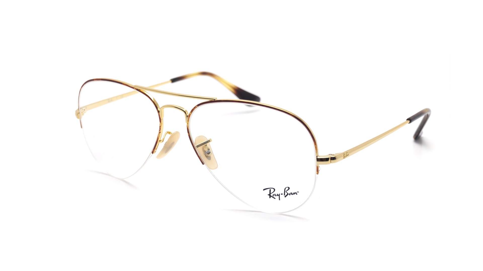 782b97d6cb4f Eyeglasses Ray-Ban Aviator Gaze Gold RX6589 RB6589 2945 56-15 Medium