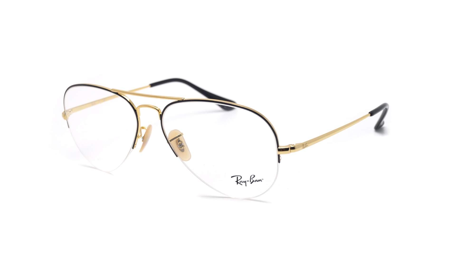 1afc8ddbfad8 Eyeglasses Ray-Ban Aviator Gaze Black RX6589 RB6589 2946 56-15 Medium