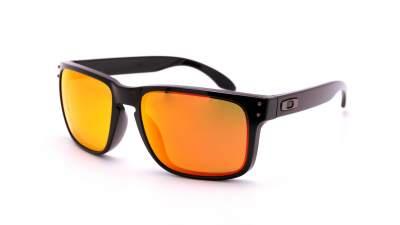 Oakley Holbrook Schwarz Prizm OO9102 F1 55-18 Mittel Polarisierte Gläser Verspiegelte Gläser