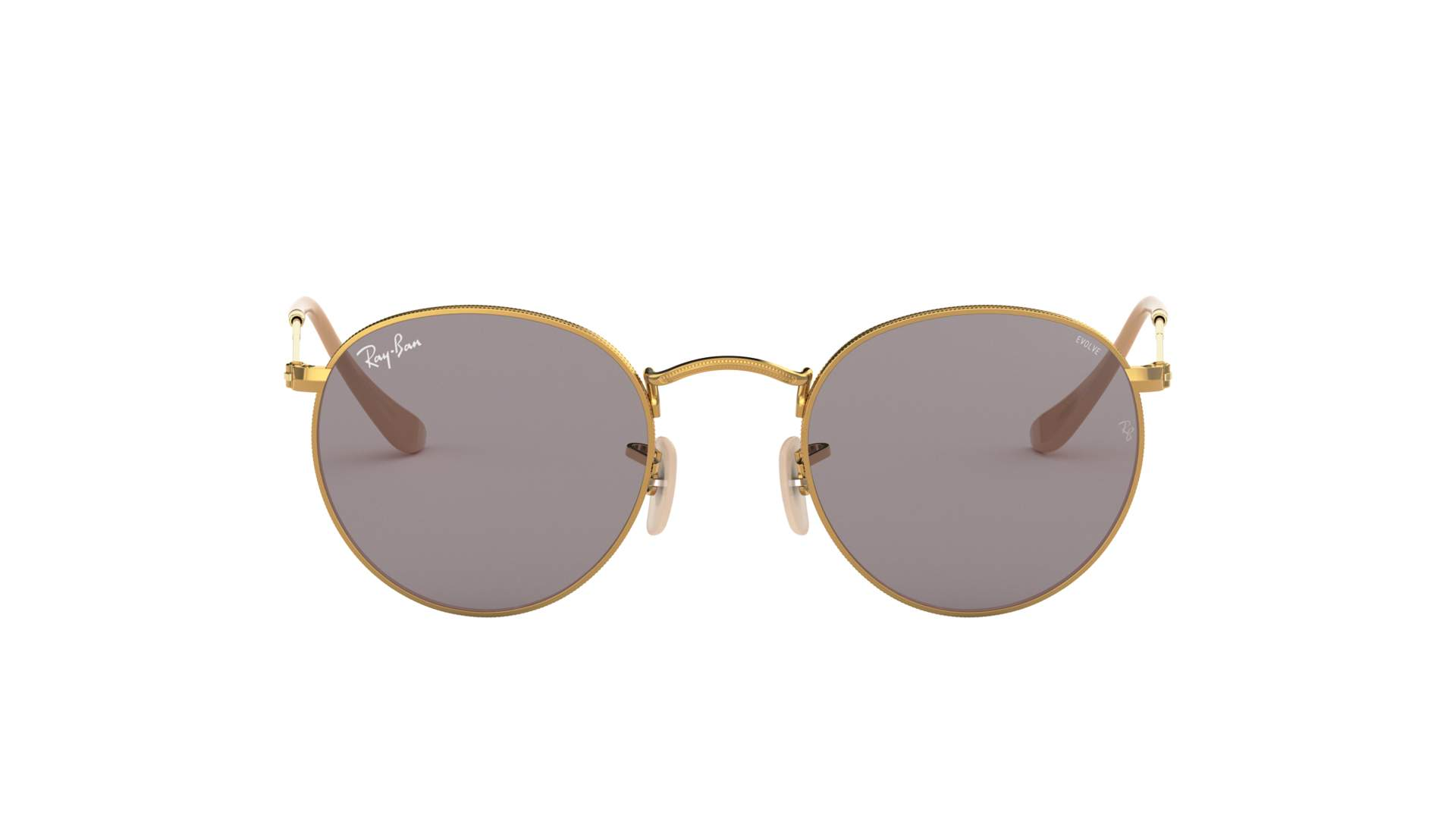 Ray-Ban Round Evolve Gold RB3447 9064/V8 50-21 | Visiofactory