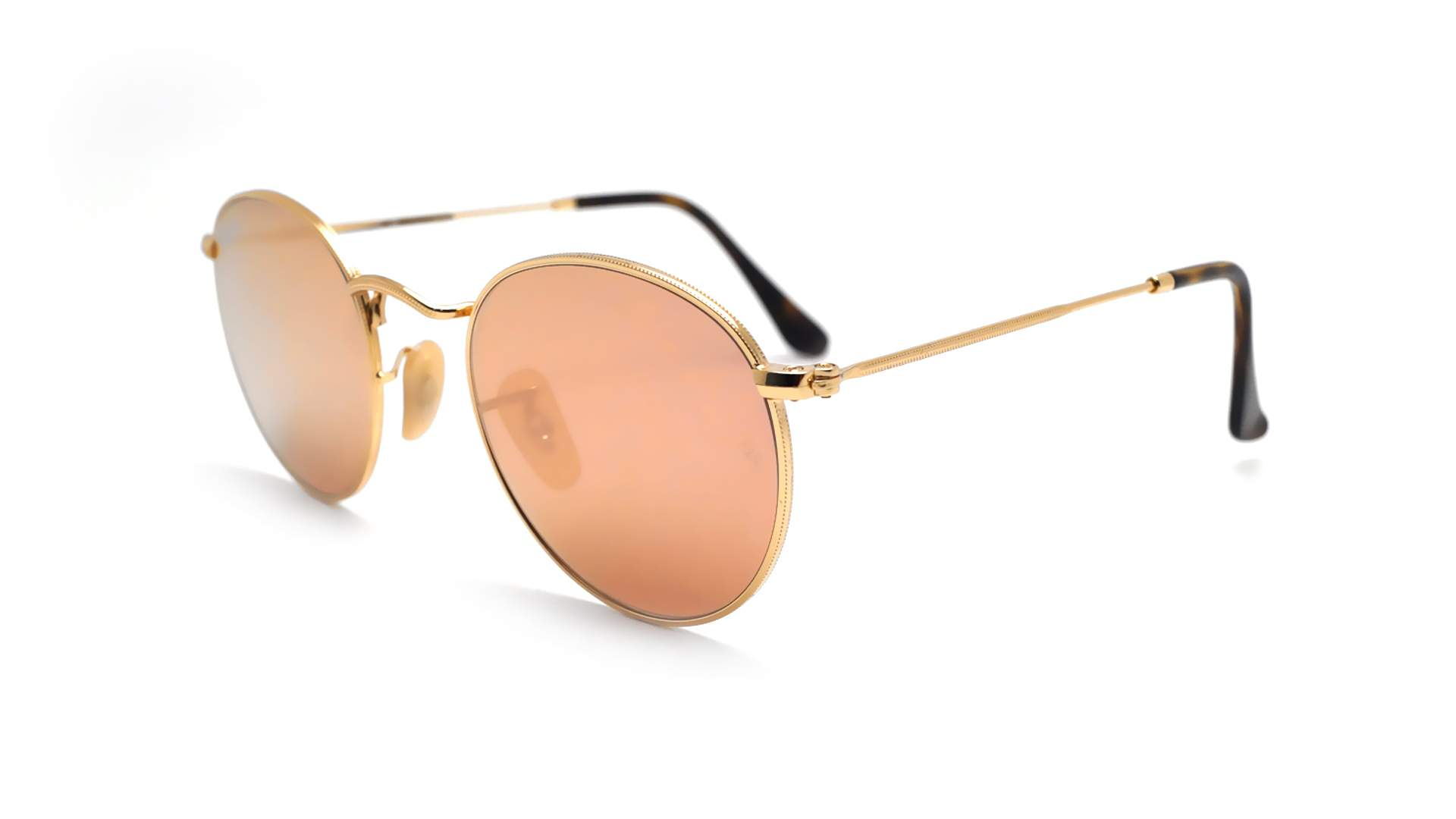 771763c0ad ... best sunglasses ray ban round metal flat lenses rb3447n 001 z2 47 21  gold small mirror