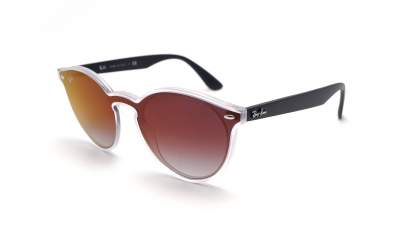 Ray-Ban Blaze RB4380N 6355/U0 37-17 Noir Mat Medium Dégradés Miroirs
